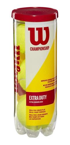 Imagen 1 de 5 de Bolas De Tenis Wilson Champioship X 3 Extra Duty