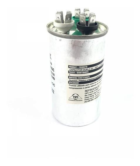 Capacitor Duplo 25uf 5uf 380va Para Ar Condicionado Split