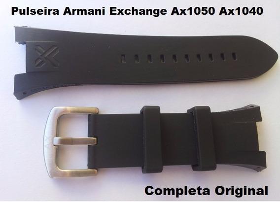 Pulseira Armani Adp Ax1067 Preta P/ Exchange Ax1084 Ax1070