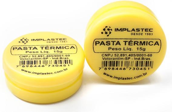 Pasta Térmica 15g Implastec Kit Com 2und