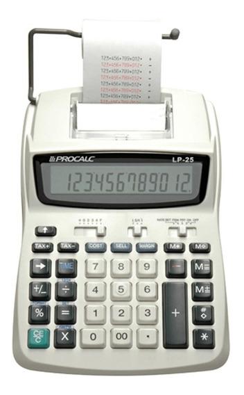 Calculadora De Mesa Com Impressão Bobina Lp25 Procalc