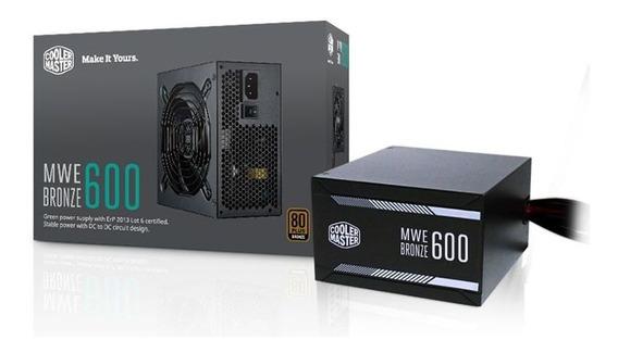 Fonte Atx Mwe 600w 80 Plus Bronze Mpx-6001 Cooler Master