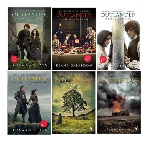 Coleção Completa Serie Outlander Livros 1 2 3 4 5 E 6 -6vol