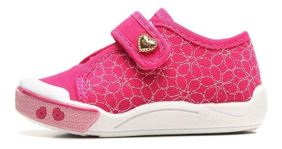 Tenis Infantil Klin Feminino Pink Velcro Toy 942161