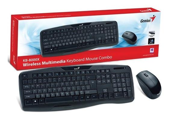 Kit Combo Genius Teclado E Mouse Sem Fio Kb-8000x
