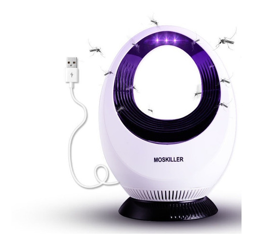 Luminária Anti Mosquito E Pernilongo Com Usb Led Violeta