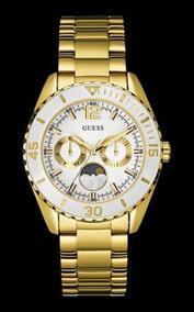 Relógio Guess Feminino Dourado Aro Branco 92559lpgsda2