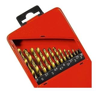 Jogo De Brocas Metal 13 Peças 1,5 A 6,5mm Titanio Mtx