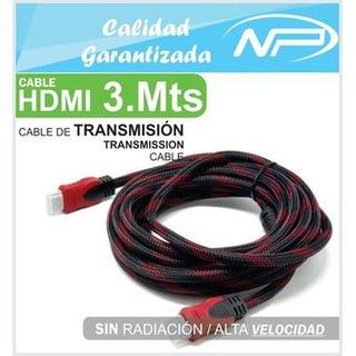Cable Hdmi 3 Metros Con Blindaje Y Filtro Full Hd / 4k Nuevo