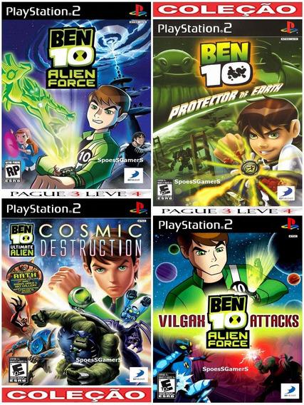 Coleção Infantil Ben 10 (4 Jogos) Ps2 Desbloqueado Patchs