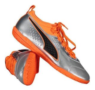 Chuteira Puma One 3 Lth It Futsal Prata