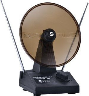 Antena Digital Com Parabola Para Tv - Vhf Uhf Fm Digital/analogica