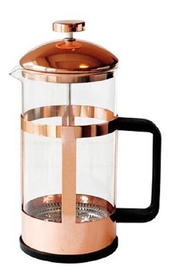 Cafetera Con Embolo Cobre Sistema Frances 900ml