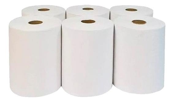 Papel Toalha 6 Bobinas Branca White Paper 20 Cm X 200 M