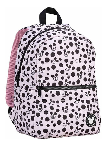 Mooving Escolar Mochila Mickey Mouse Fluffy Rosa Original