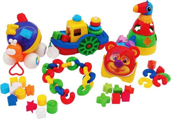 Brinquedos Educativo Pedagógico Kit Baby Didático 66 Peças