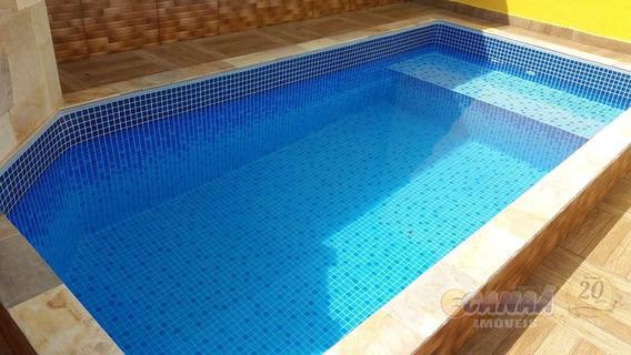 Casa Nova Com Piscina Lado Praia Em Mongaguá V-6097
