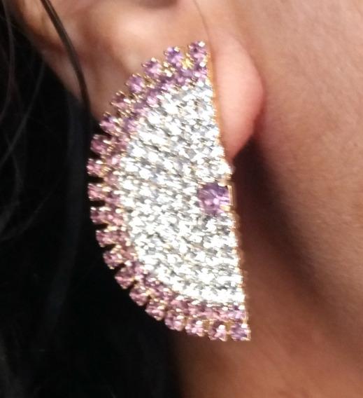 Brinco Ear Cuff Delicado Semi Joia Folheado Em Ouro 18k