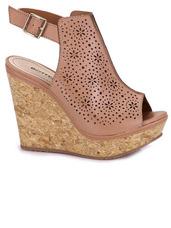 e674538d86 Sandalias Anabela Passarela - Sapatos Nude no Mercado Livre Brasil