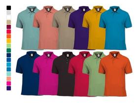 Lote 12 Playeras Polo Mayoreo Yazbek 16 Colores Envio Gratis