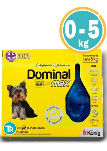 Pipeta Antipulgas Y Garrapatas Dominal Max Perro De 0 A 5kg