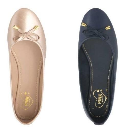 Zapatos Balerinas Dama Kit De 2 Pares!! Super Precio!!