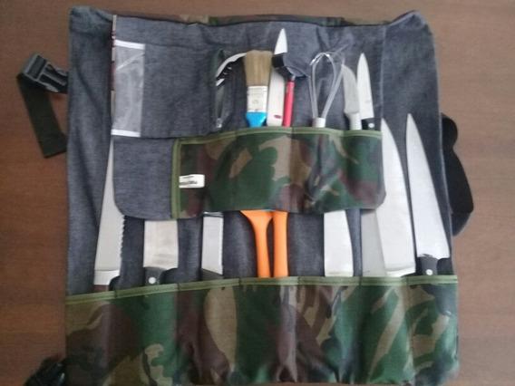 Porta Cuchillos De Tela Lavables Y Resistentes
