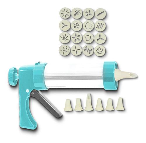 Imagem 1 de 7 de Kit Confeiteiro Bolo Cupcake Pistola Confeitaria Profissiona