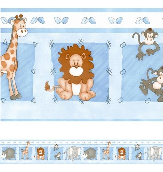 Faixa Decorativa De Parede Infantil Border Bebê Safari