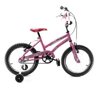 Bicicleta Rodado 16 Bmx And-es Niña Con Estabilizadores