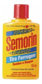 2 Tira Ferrugem Tecidos E Roupas Semorin 50ml