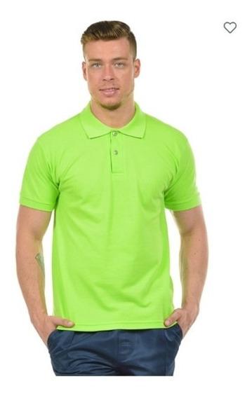 15 Camisas Polo Piquet Masculina 27252 Algodão Confortável