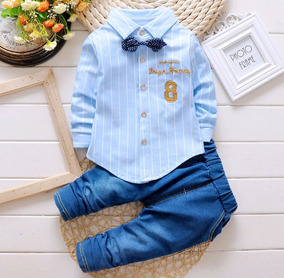 Conjunto De Bebê Social Festa Azul Cotton Importado
