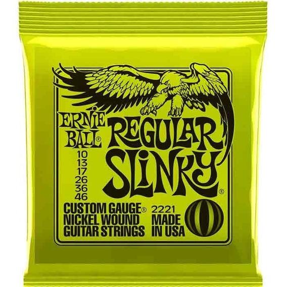 Encordoamento Guitarra Ernie Ball Regular Slinky 010 2221