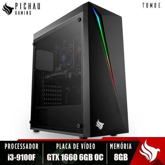 Pc Gamer Pichau Tomoe, I3-9100f, Gtx 1660 6gb Oc, 8gb Ddr4