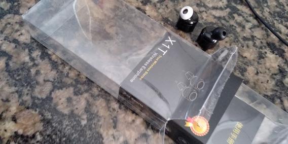 Fone Bluetooth Stereo - X1t - Na Caixa Com Seus Acessórios