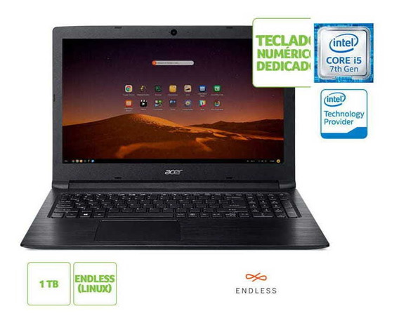 Notebook Acer A315-53-57g3 I5 7200u 8gb 1tb Linux 15.6 Hd Pt