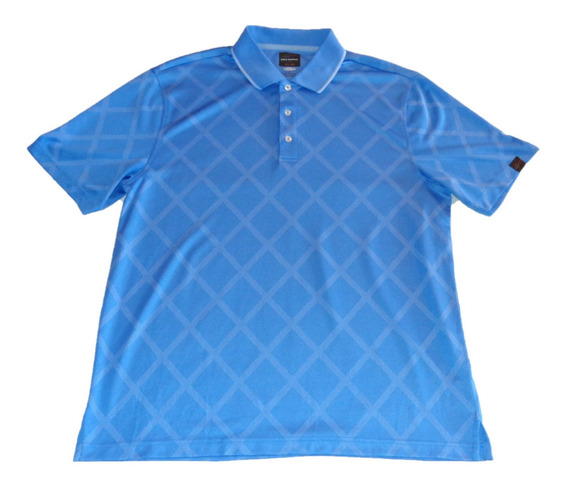 Greg Norman Playera Polo Golf De Caballero M C Talla L Azul