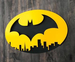 Batman En Gotham, Logo En Madera Mdf