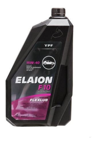 Aceite Ypf Elaion F10 4 Litros 15w40 Motor Auto Zona Norte