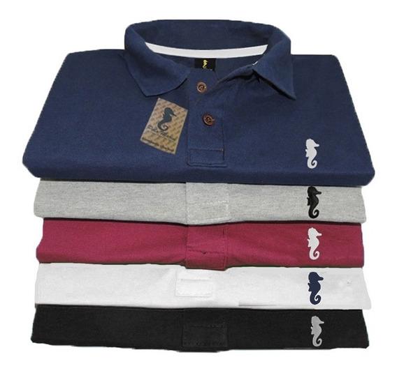Kit 3 Camisa Plus Size Gola Polo Marine Tamanho G1 G2 G3 Xg
