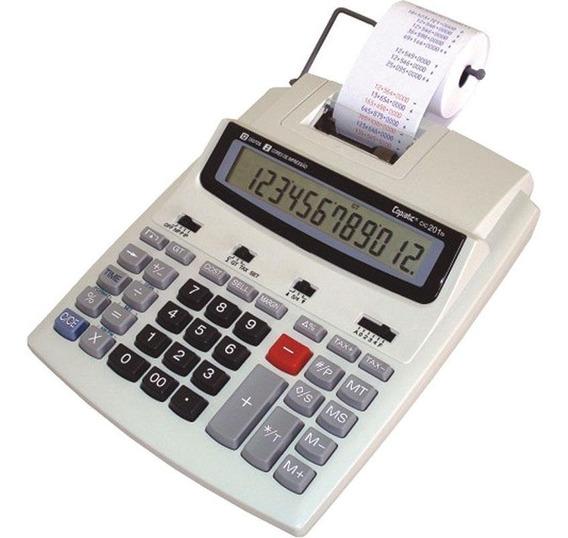 Calculadora Mesa Bobina Impressão Copiatic 201 Ts Menno