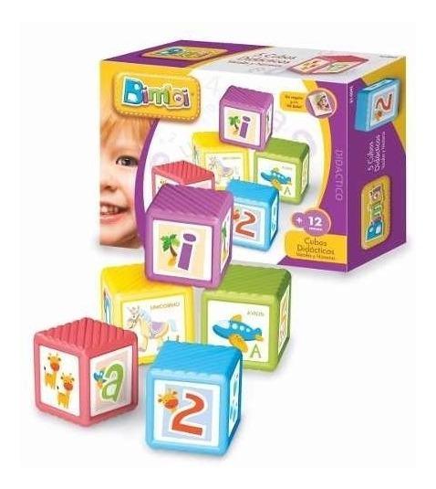 Bimbi Cubos Didacticos X5 + 12 Meses 1 Año Juguete Bebe