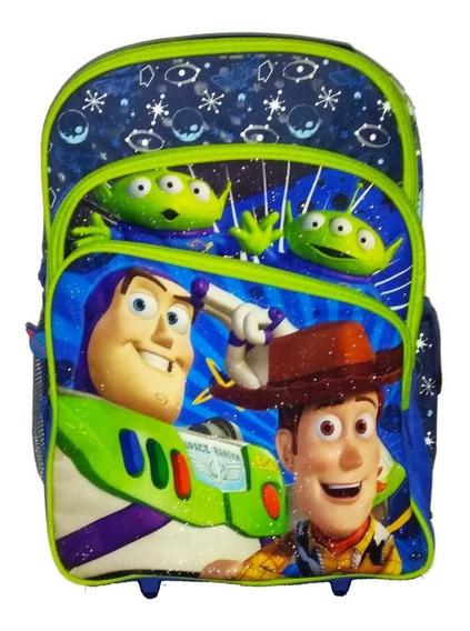 Mochila Infantil Toy Story Disney De Rodinhas Tamanho G