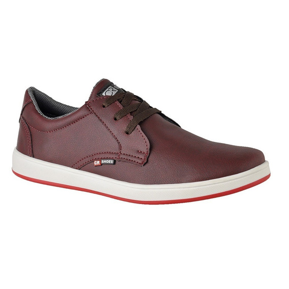 Sapato Casual Sapatênis Cr Shoes 1510 Bordo