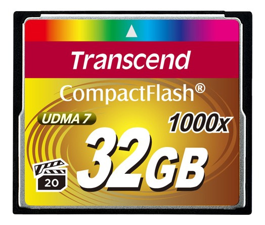 Compact Flash Cf 32gb Transcend Extreme 1000x Até 160mb/s