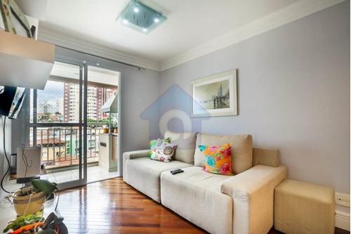 Lindo Apartamento Com 3 Dormitórios, Varanda Gormet, 1 Vaga À Venda Vila Gumercindo - Tw15854