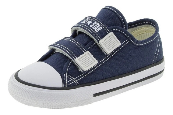 Tênis All Star Velcro Converse Kids Azul Ck0508 - Original