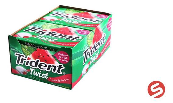 Trident Twist Sandia/yerba 10pzs