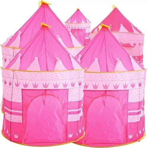 Pack 5 Carpa Castillo Para Niñas Y Niños Rosada